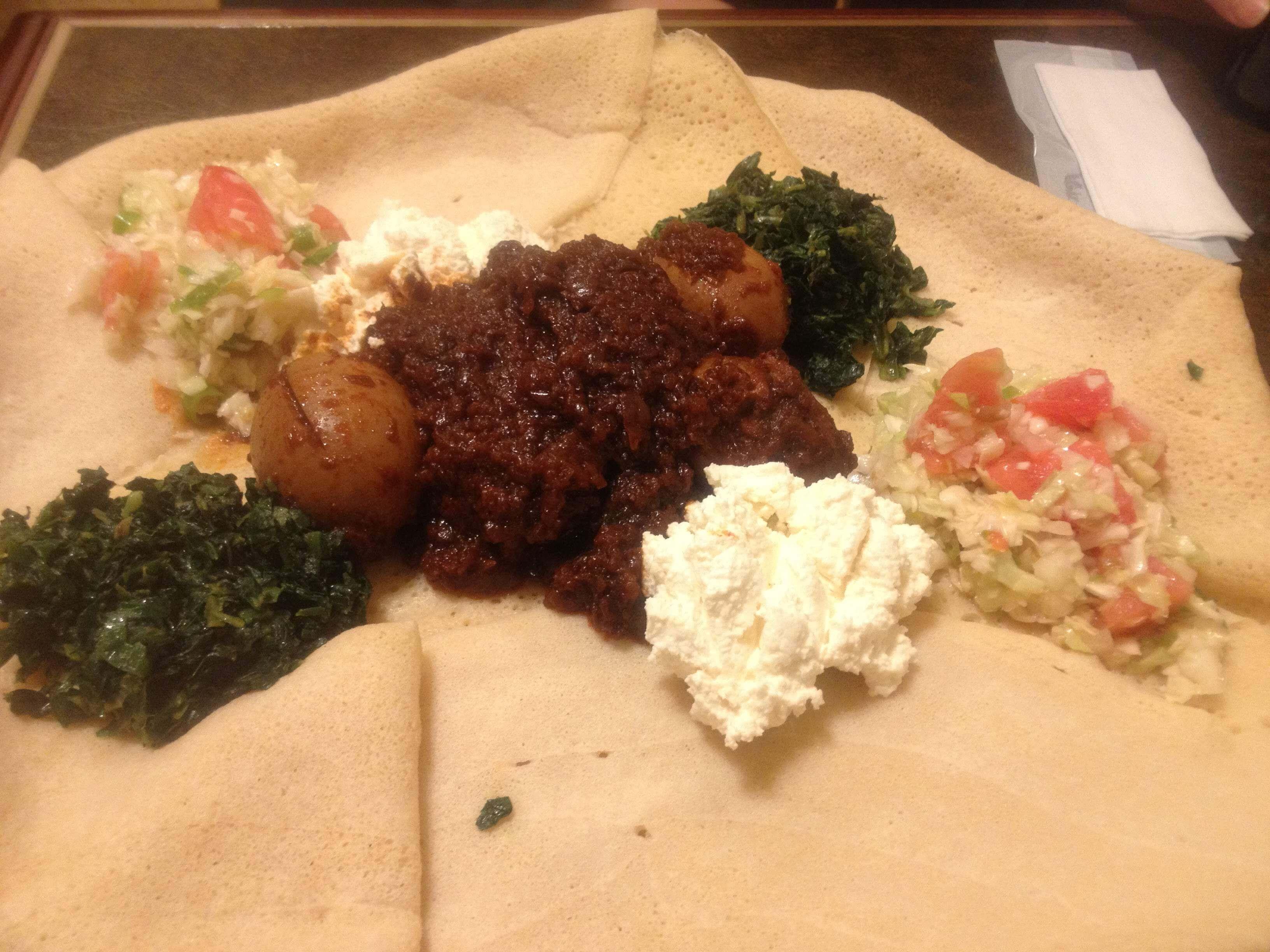 エチオピアンカフェルーシー料理